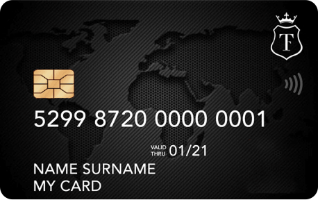 Account card with iban